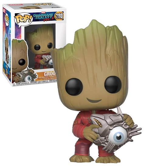 Funko Pop Marvel Guardians Of The Galaxy Groot Ravagers funko pop marvel guardians of the galaxy vol 2 280 groot with cyber eye new mint
