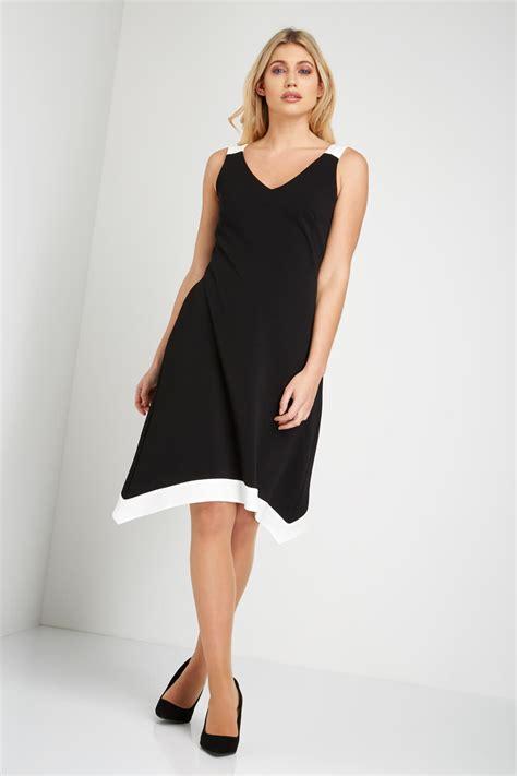 color block dress fit and flare colour block dress in black originals uk