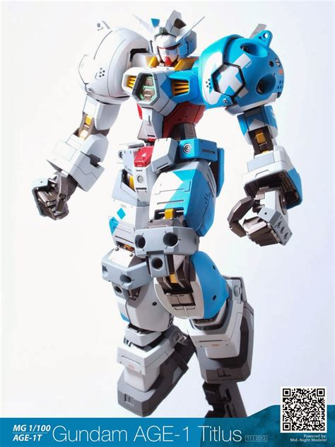 Ng319 Gundam Age 1 Titus 1100 Master Grade Daban Model gundam mg 1 100 gundam age 1 titus customized build