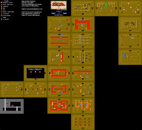 legend of zelda map quest 2 overworld the legend of zelda level 6 quest 2 map