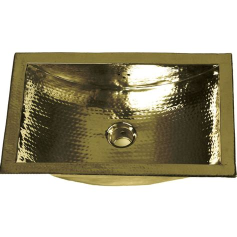 brass kitchen sinks brightwork home collection hammered rectangle