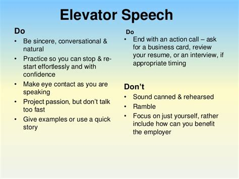 How To Sell Yourself In A Resume Examples by Perfect Your Pitch Using An Elevator Speech To Impress