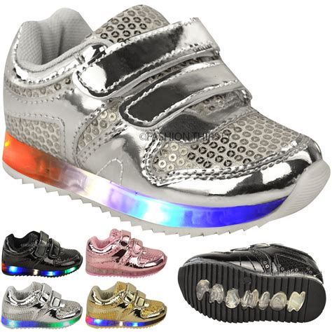 toddler light up shoes size 4 babies led light up trainers strappy