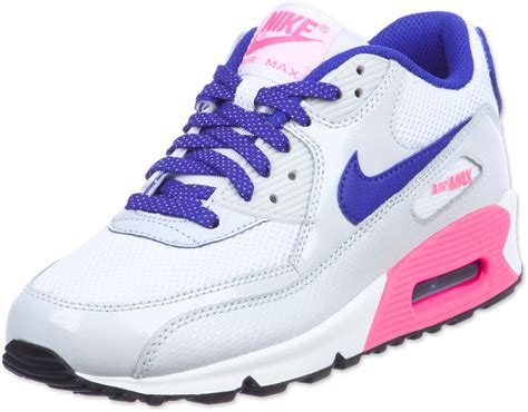 Nike Air Max 90 White Pink nike air max 90 youth gs shoes white blue pink