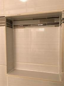 Bathroom Ideas Shower Only Shower Niche Tile Unfinished Edge Home Improvement