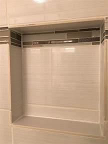 Bathroom Ideas Shower Only Shower Niche Tile Unfinished Edge Home Improvement