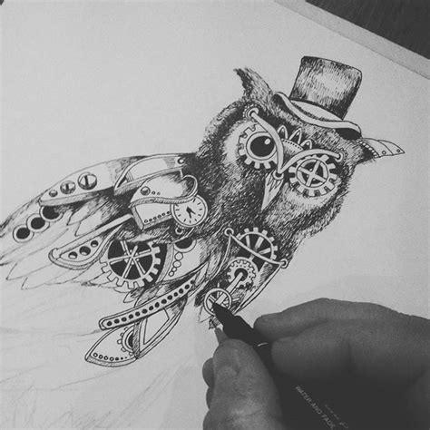 steampunk art drawing on instagram