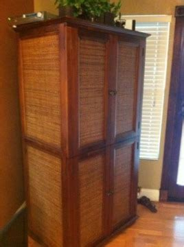 wicker tv armoire 175 obo pier 1 wicker wood armoire tv stand cabinet for sale in ta florida