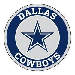 Blue Doormat Dallas Cowboys Logo Roundel Mat 27 Quot Round Area Rug