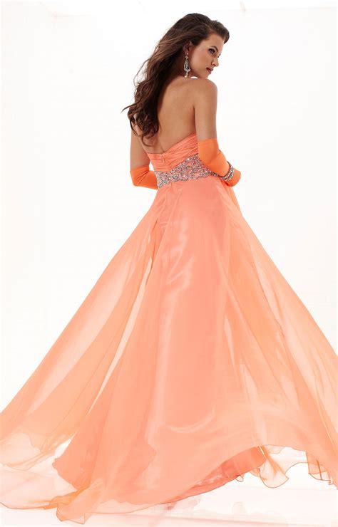 tiffany designs  empire waist chiffon dress prom dress
