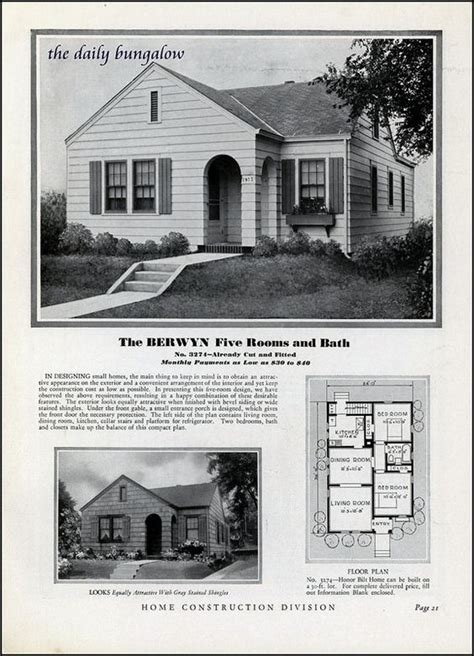 1930s bungalow floor plans homes of today sears kit houses 1932 vintage house