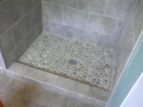rock flooring bathroom river rock tile for shower floor roselawnlutheran