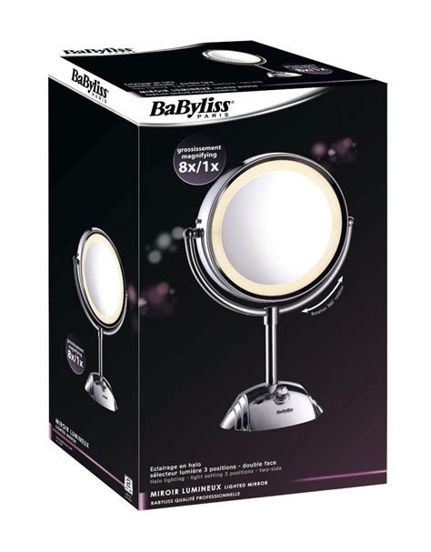 Light For Makeup Vanity Babyliss 8438e Cosmetic Lighted Mirror 8x Magnification 3