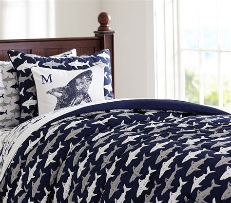 shark bedding shark comforter sham pottery barn kids