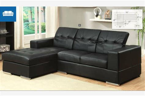 small black sectional sofa modern small black leather sectional sofa chaise roll back