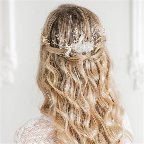 wedding hair comb with chains by britten weddings hair combs britten
