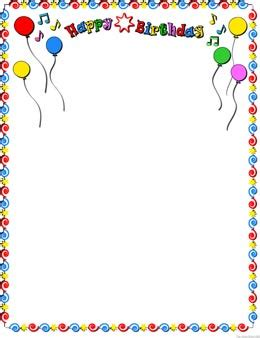 Birthday Frames Clipart Free Printable Birthday Borders And Frames
