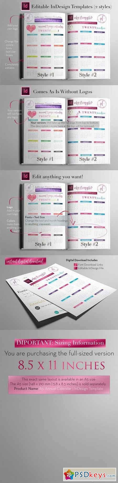 Annual Calendar Indesign Template 1113017 187 Free Download Photoshop Vector Stock Image Via Indesign Calendar Template
