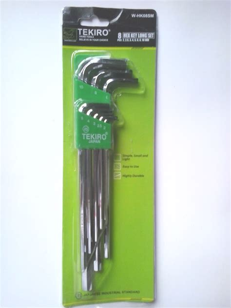 Kunci L Tekiro Panjang jual kunci l set panjang 8pcs 2 10mm tekiro klikteknik