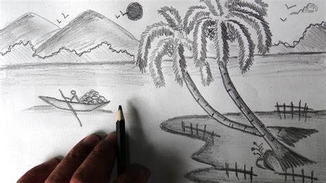 simple pencil painting simple nature drawings drawing of sketch