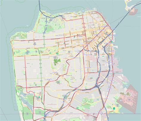 san francisco map rds excelsior district san francisco
