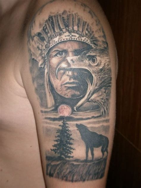 indian tribal tattoos for men indian wolf pictures to pin on tattooskid