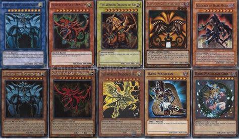 how to make yugioh cards at home yugi muto 4 decks exodia slifer obelisk dmg ra
