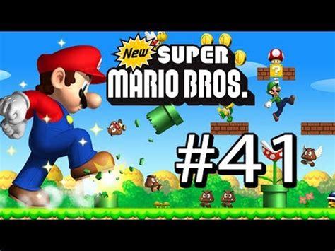 Mario Bros 41 gu 237 a new mario bros ds 41 mundo 1 luigi que