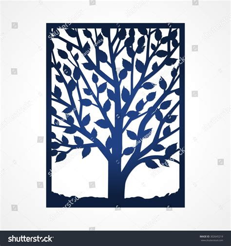 Abstract Frame Tree May Be Used Stock Vector 302645219 ...
