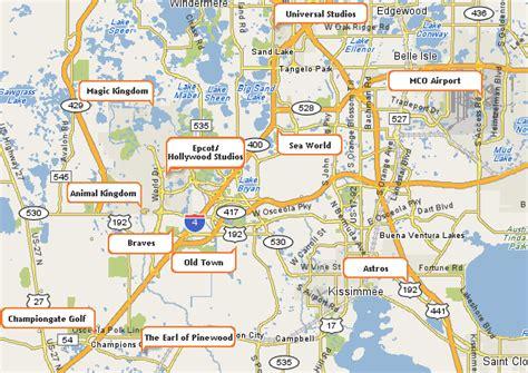 printable orlando area map image gallery orlando map attractions