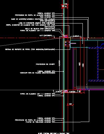 curtain wall detail dwg curtain wall detail dwgautocad drawing 단면 pinterest