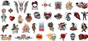 rockabilly tattoo skull nail art decals assortment 1 5