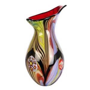 luxury blown abstract teardrop glass vase