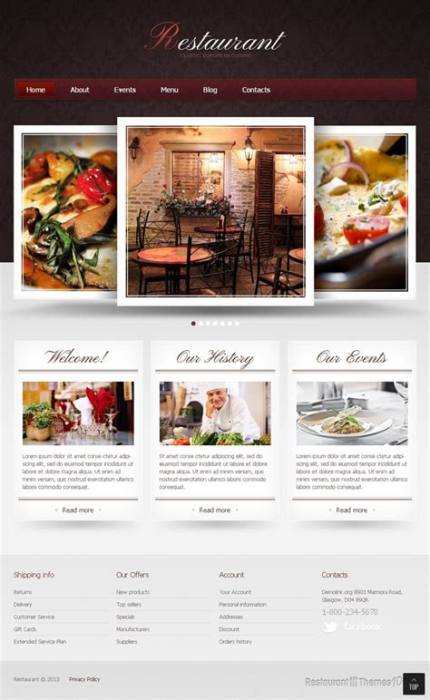 restaurant classic review a joomla restaurant template by