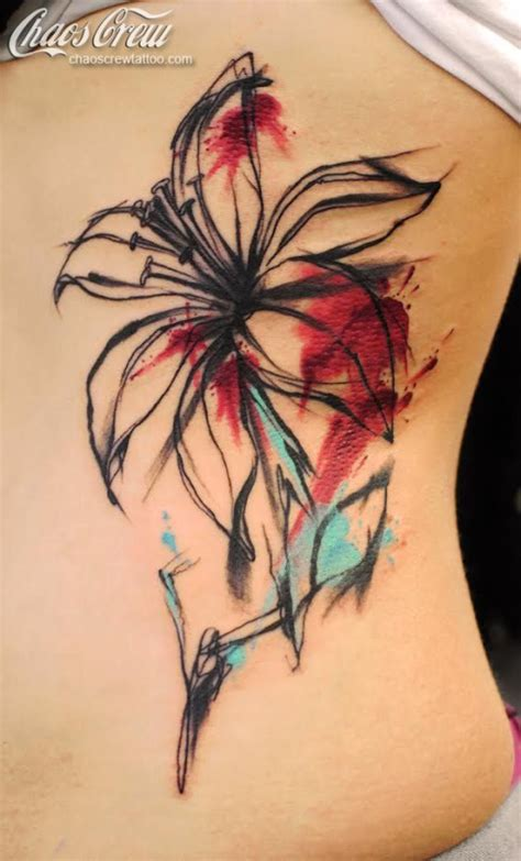 watercolor lily tattoo 38 flower designs pretty designs