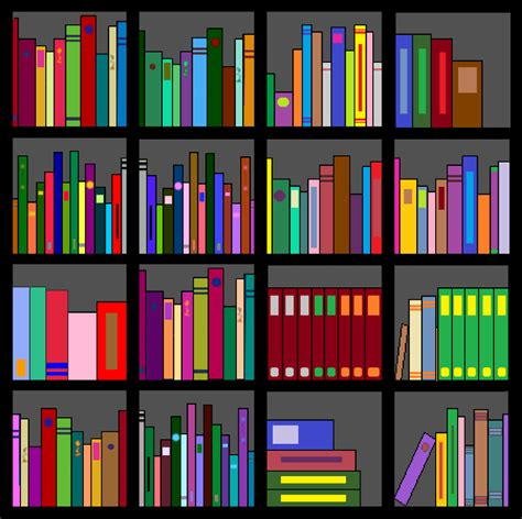 best bookshelf clipart 14982 clipartion