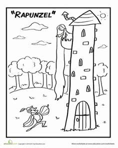Red Riding Hood Coloring Page   Nursery Rhymes and Tall