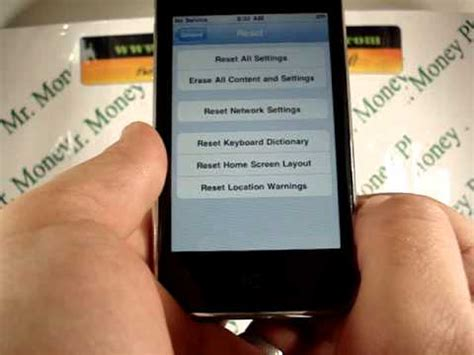 iphone 3gs reset knopf reset your apple iphone 3gs restore to factory