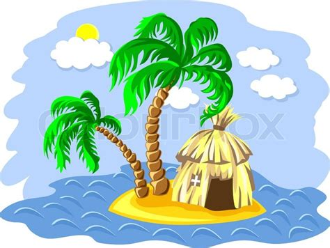 hutte tropicale tropical landscape of the island in the and two palm