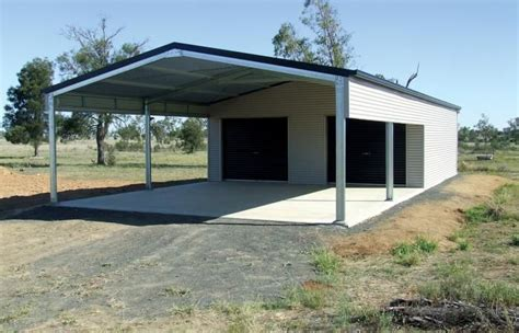 Wide Span Sheds by Steel Garage Kits With Carports For Sale Garaports