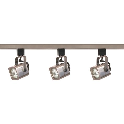 mr16 lighting fixtures nuvo tk347 3 light mr16 square track lighting kit nuvo
