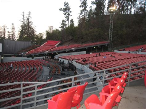 section c greek theater seating pit sections a b and south terrace far side