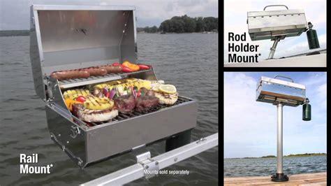 boat grill post camco kuuma grills youtube