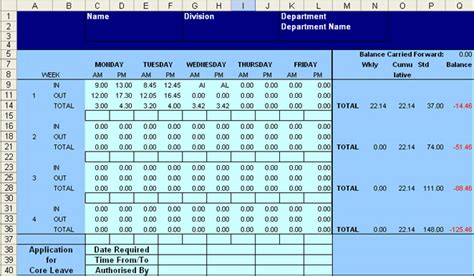 fte calculation template excel flexi time spread sheet calculator