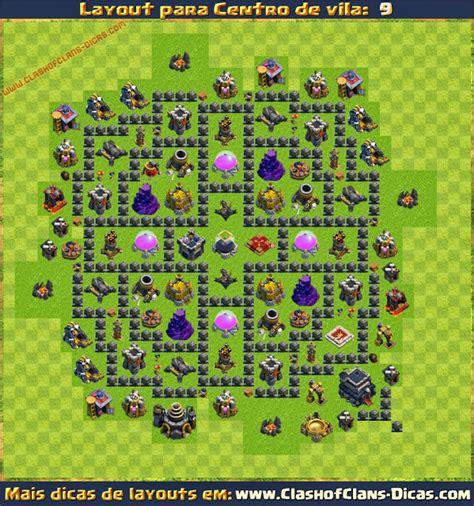 layout hibrido cv 5 layouts de centro de vila 9 para clash of clans clash of