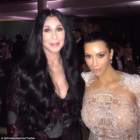 the year i met how kim kardashian started stealing cher s style years met gala daily mail online