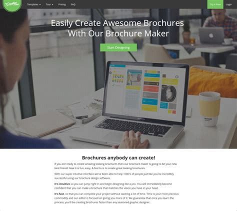 23 Free Brochure Maker Tools To Create Your Own Brochure Design Free Premium Templates Software Company Brochure Templates Free