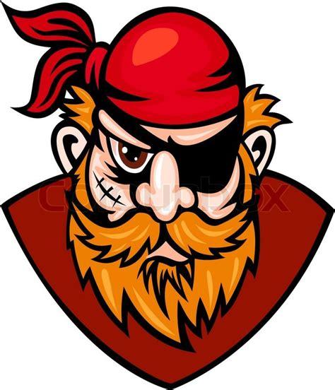 centurion boats logo vector head of danger buccaneer in cartoon style vector