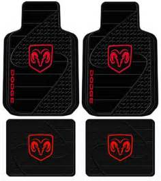 dodge ram head logo 4 pc floor mats set