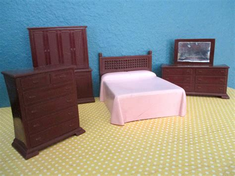 vintage dollhouse furniture doll bedroom mid century modern